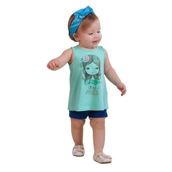 Pulla Bulla Baby Girl's Graphic Tank Top