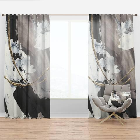 Designart 'Glam Painted Arcs II' Modern Curtain Panel