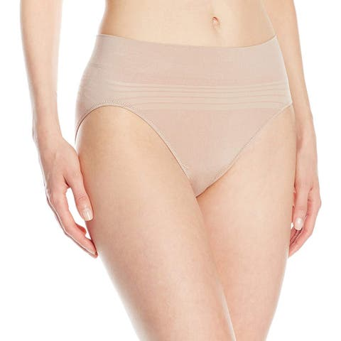 Warner's Women's No Pinching No Problems Seamless Panty, Toasted Almond, Medium