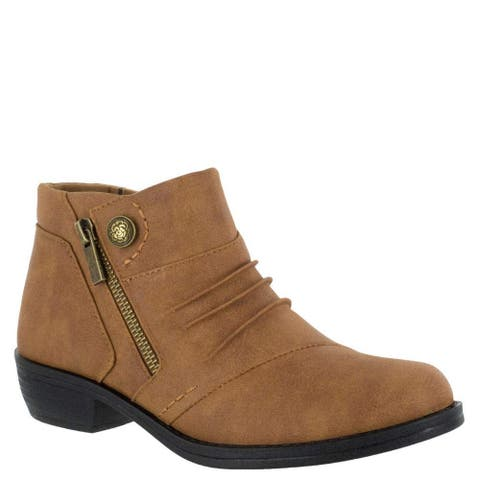 Easy Street Womens Sable Almond Toe Ankle Fashion Boots