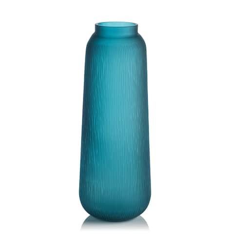 Exuma Handmade Blue Glass Vase