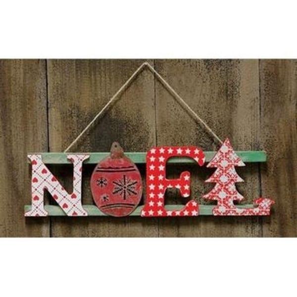 Noel Wooden Sign With Hanger