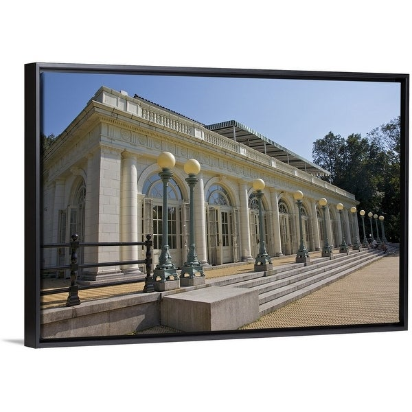 Shop White Building With Arched Glass Doors On Platform, NYC   Multi Color    On Sale   Free Shipping Today   Overstock   25504976