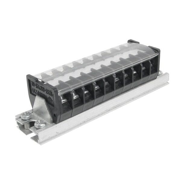 Unique Bargains 660V 15A 10 Position Wire Connector Barrier Terminal Block