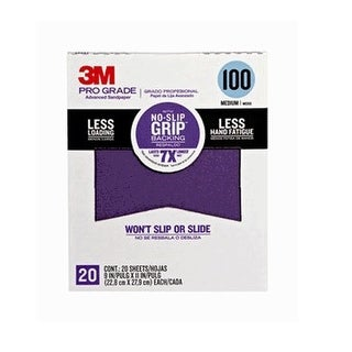 "3M 26100CP-P-G Pro Grade Advanced Sandpaper, 9"" x 11"", Grit 100"