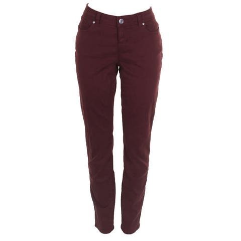 Inc International Concept Sport Red Incessentials Curvy-Fit Skinny Jeans