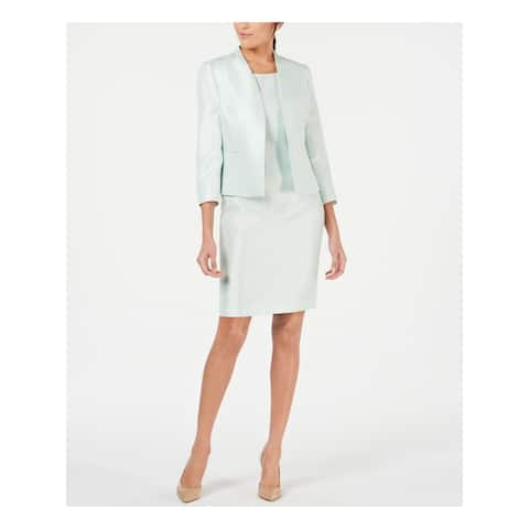 LE SUIT Green Knee Length Blazer Skirt Suit 10