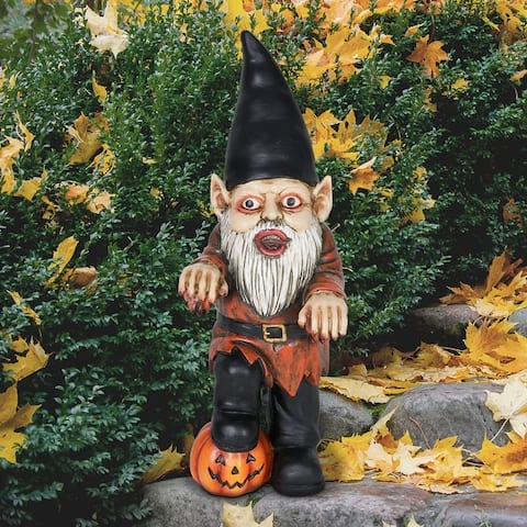 Exhart Halloween Zombie Gnome Statue, 12 Inches tall