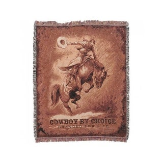 Gift Corral Western Decorative Throw Blanket Woven Cotton 87-3621