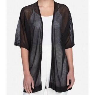Catherine Malandrino NEW Black Women's Medium M Sheer Cardigan Sweater