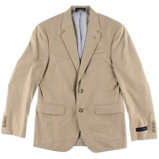 Tommy Hilfiger Mens Wilson Notch Collar Double Vent Two-Button Suit Jacket
