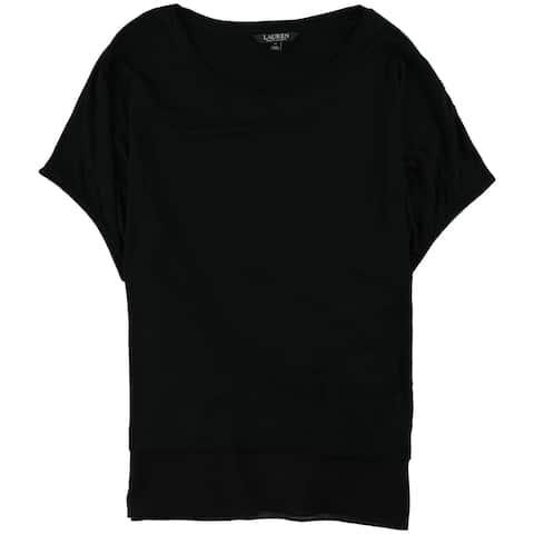 Ralph Lauren Womens Relaxed-Fit Georgette Basic T-Shirt