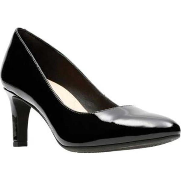 e40c144ccda8 Shop Clarks Women s Calla Rose Pump Black Patent Leather - Free ...