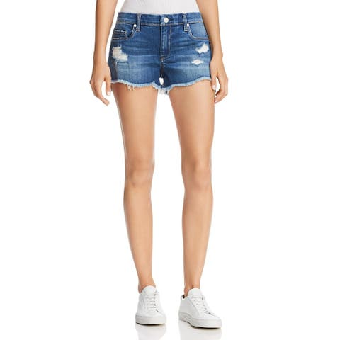 [BLANKNYC] Womens Astor Denim Shorts Distressed Cut-Off - Push Play