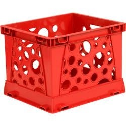 "Red - Micro Crate 6.75""X5.8""X4.8"" 1/Pkg"