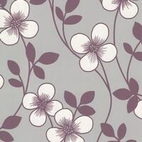 Brewster 2533-20227 Freud Purple Blossom Trail Wallpaper - N/A