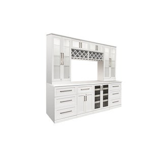"""NewAge Products Home Bar Series 96""""W x 25""""D 9 PC Shaker Style"""