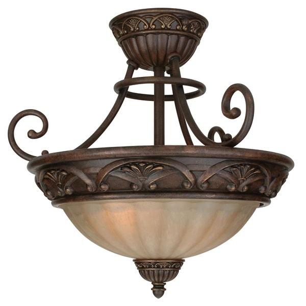 Craftmade X5813 Barcelona 2-Light Semi-Flush Ceiling Fixture - Aged Bronze - n/a