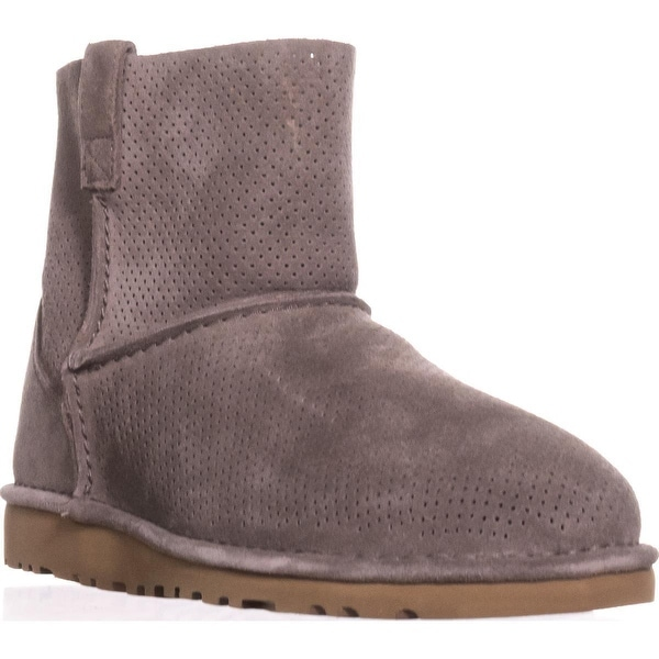 UGG Australia Classic Unlined Mini Perforated Boots, Mole