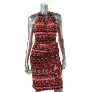 Jessica Simpson Womens Printed Sleeveless Casual Dress