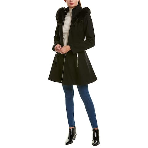 Laundry By Shelli Segal Flare Wool-Blend Coat