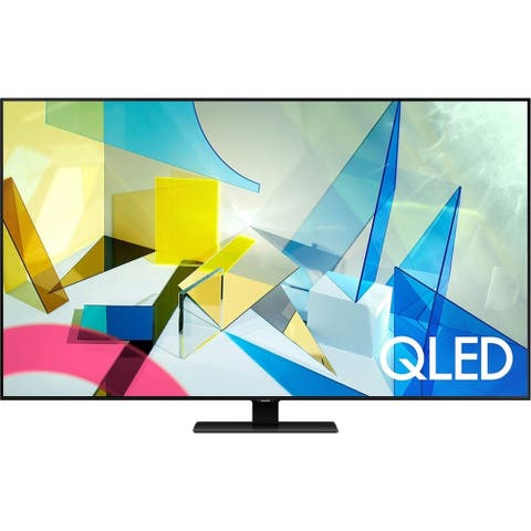 """Samsung Class Q80T 4k 50"""" Smart QLED HDR TV,Black (Refurbished) - Black - 43.9 x 25.4 x 2.2 Inches (Without Stand)"""