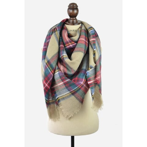 Women's Infinity Blanket Scarf - Brown