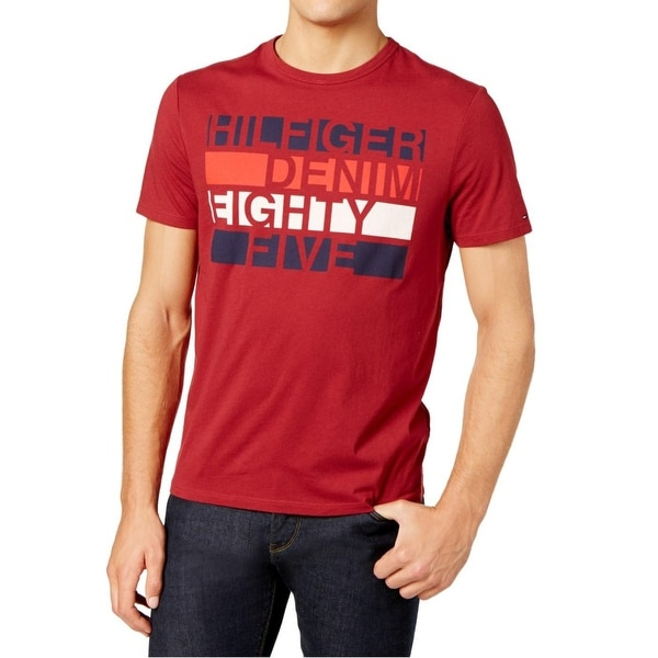 84ed1dfe51d1 Shop Tommy Hilfiger Blue Mens Logo Graphic Tee T-Shirt - Free Shipping On  Orders Over  45 - Overstock - 26995437