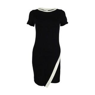 Bar III Women's Contrast Envelope Sheath Dress - xs