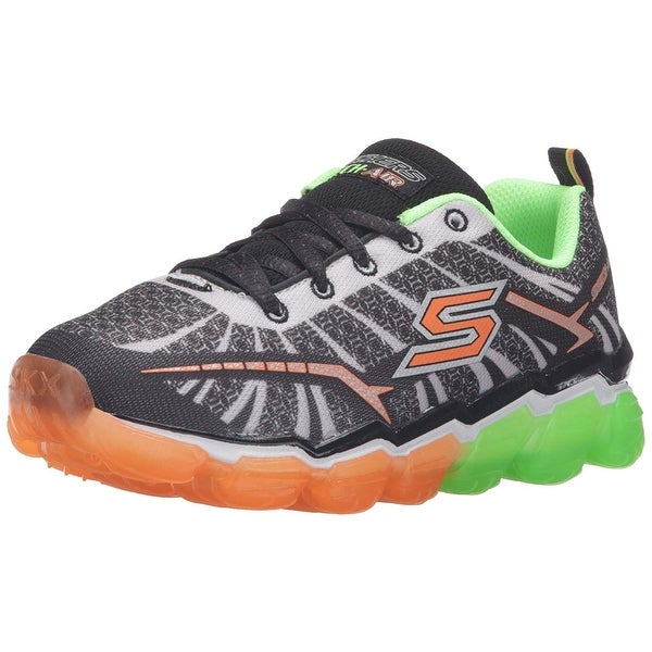 1105fb37ddd0 Shop Skechers Kids Boys Skech Air Turbo Shock Sneaker ,Black/Lime,12 ...