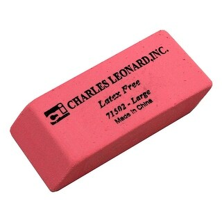(12 Bx) Synthetic Pink Wedge Erasers Large 12 Per Bx