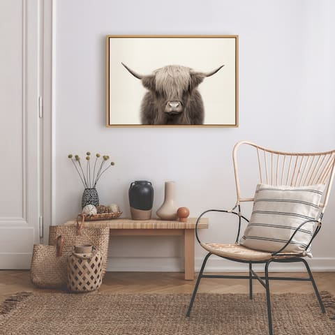 Kate and Laurel Sylvie Cow Canvas by The Creative Bunch Studio