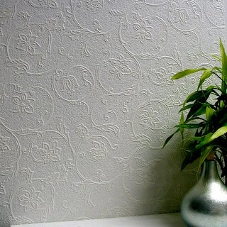 Brewster 437-RD4012 Heaton Paintable Textured Vinyl Wallpaper