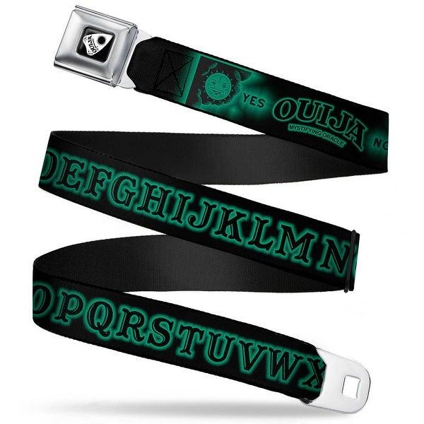 Ouija Planchette Full Color Black White Ouija Board Elements3 Black Green Seatbelt Belt