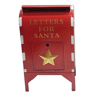 Sunset Vista AC-15382 Christmas Letters For Santa Large Mailbox, Red