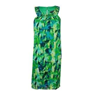 Jessica Howard Woman's Beaded Chiffon Dress