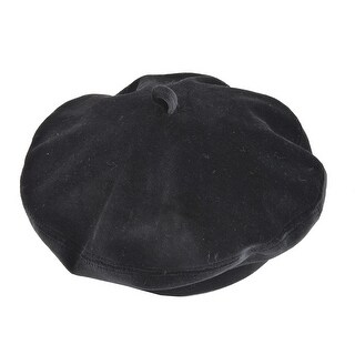 Top Headwear Wool Beret w/ Loop Band (Option: Red)