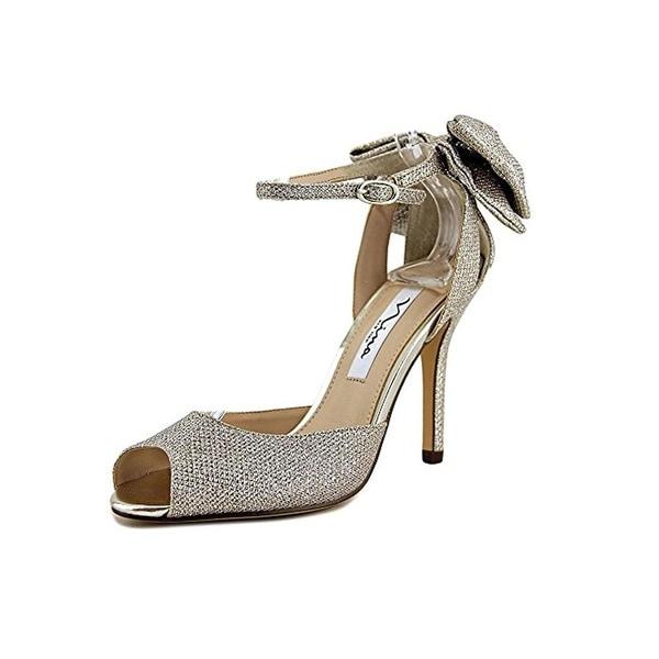 Nina Womens Martina Peep-Toe Heels Textured Stilettos