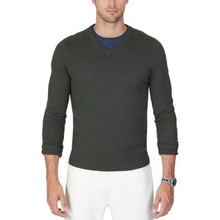 Nautica Mens Pullover Sweater Ribbed Trim Long Sleeves