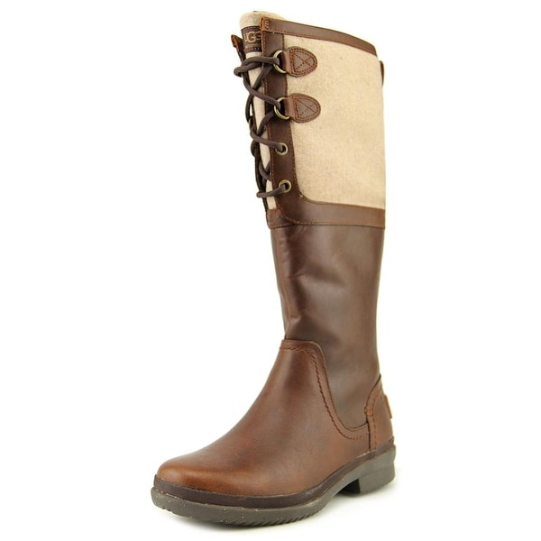 Ugg Australia Elsa Women  Round Toe Leather  Knee High Boot