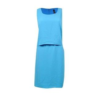 Marc New York Women's Crepe Popover Sheath Dress - Cyan - 8