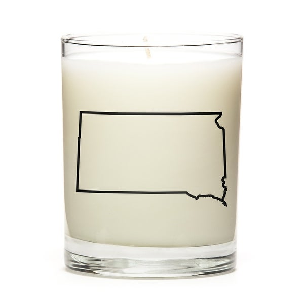 Custom Candles with the Map Outline South-Dakota, Apple Cinnamon