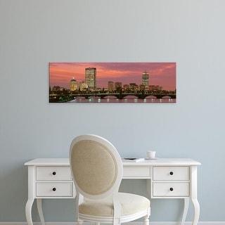 Easy Art Prints Panoramic Images's 'Back Bay, Boston, Massachusetts, USA' Premium Canvas Art