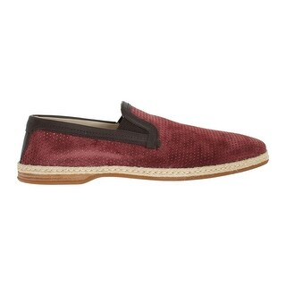 Dolce & Gabbana Dolce & Gabbana Bordeaux Leather Breathable Loafers