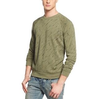 Alternative The Champ Fleece Crewneck Sweatshirt True Camo Green X-Large