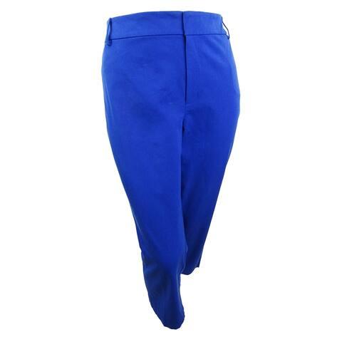 Charter Club Women's Plus Newport Tummy-Control Cropped Pants