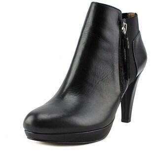 Adrienne Vittadini Perrine Round Toe Leather Ankle Boot