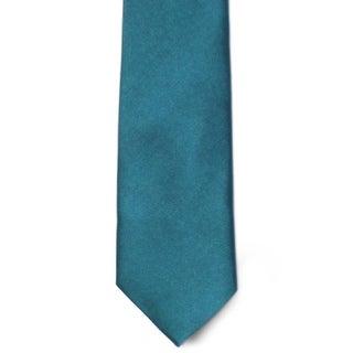Men's 100% Microfiber Teal Tie