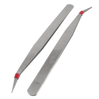 "Unique Bargains 5 Pcs 5 1/4"" Length Curved Tweezers Repair Hand Tool Set"