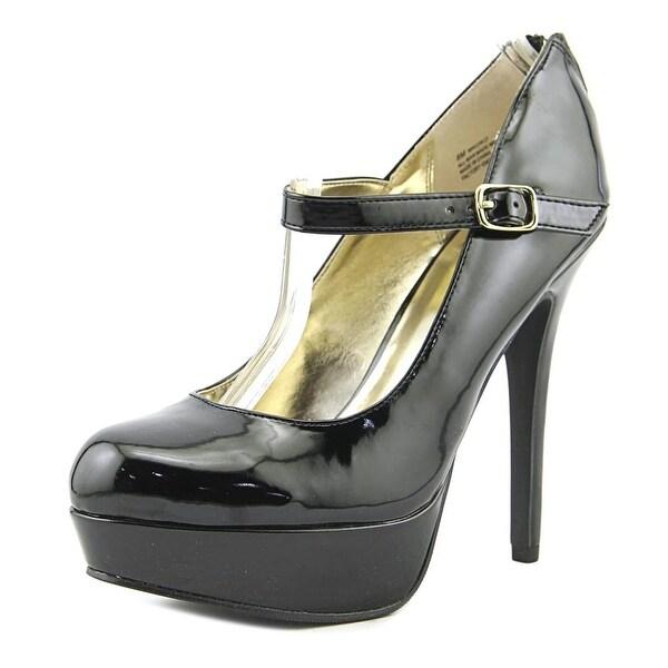 Material Girl Koko Women Open Toe Synthetic Black Platform Heel
